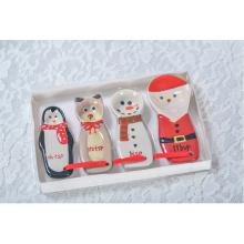 Platos de muñeco de nieve impresos personalizados decorativos Platos de cerámica al por mayor Navidad