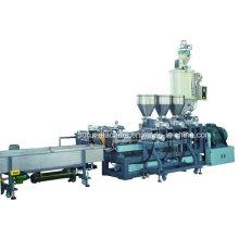 Máquina de granulación de plástico de extrusión de tornillo gemelo Máquina de plástico de granulación