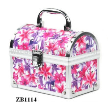 New style aluminum jewelry box with a removable tray inside from China manufacturer