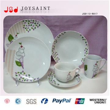 Пользовательский дизайн Китайский стиль керамический ужин посуда плита для ежедневного использования