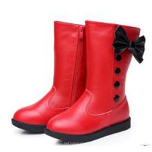 La última manera embroma los zapatos de los altos cargadores de la rodilla de la muchacha roja de los niños