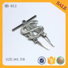 MB611 étiquette en métal 2016 étiquette en métal sac à main personnalisé étiquette de marque logo