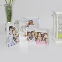 APEX 3x5 Desktop Double Panel Acrylic Picture Frame