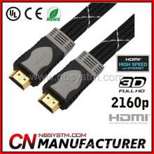 Doppelfarbener Schimmel flacher HDMI Draht