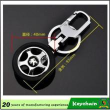 Llavero metal neumático con insignia de encargo del coche