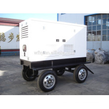 4 wheel trailer silent generator set
