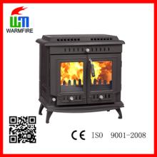 CE e EN13240 Aprovado real fabricação lareira de ferro fundido de madeira