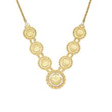 Турецкий 18kgp золото заполненные 18 цепи ожерелье, ювелирные изделия фото Твердый 18k позолоченный ожерелье