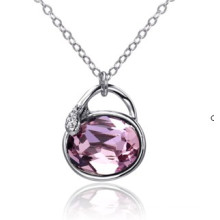 Sw Elements Crystal Light Amethyst Color Purse Necklaces Jewelry