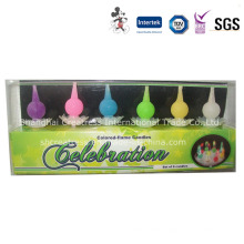 Pear-Shaped Color Flame Birthday Candle