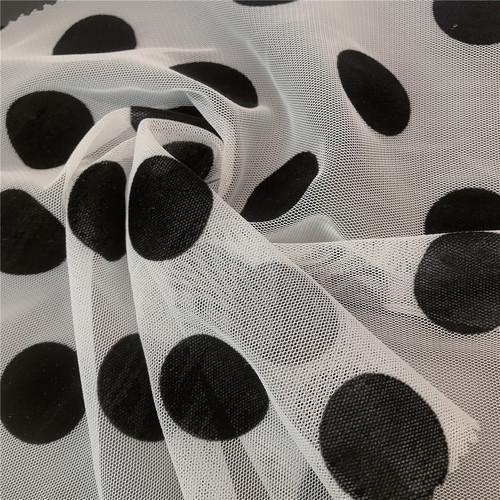 Big Black Polka DOT Tulle pour robe de mode