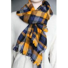 écharpe en laine de cachemire peignée