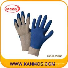 Guantes de trabajo de mano de seguridad industriales recubiertos de látex resistentes al corte (52202)