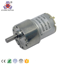 37mm diameter eccentric 6mm shaft longlife low noise gear motor dc 12v high torque