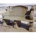 Banco de piedra al aire libre, silla de piedra del jardín (QTC003)