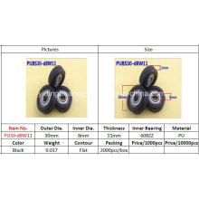 Inner Bearing 608zz Nylon Covered Wheel Bearing 30*8*11 Used for Furniture