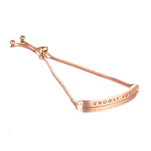 CHOISIR JOY Bracelet gravé en or rose réglable