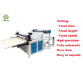 Fabric roll to sheet cross cutting machine