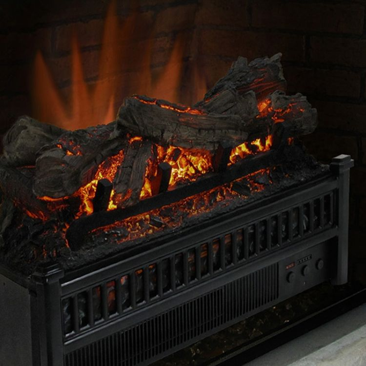 Electric log with heater