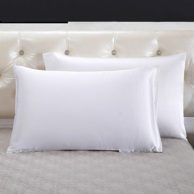 White Pair Of Silk Pillowcases
