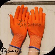 SRSAFETY 13 калибр Оптоволокно для перчаток с перламутровым покрытием из нейлона / полиэфира