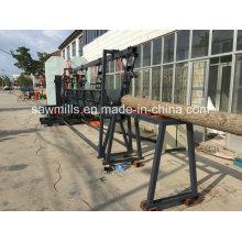 Aserradero de madera con carro Sierra de cinta vertical doble