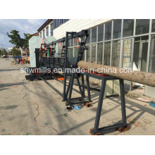 Woodworking Sawmill with Carriage Twin Vertical Band Saw