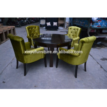 Modern restaurant chair and round table set XYN499