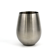 Eco-friend 304 stainless steel champagne wine cup without long stem