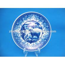 Placa de cerámica caliente decorativa con la calcomanía customed