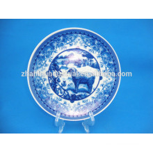 Decorative hot ceramic Plate with customed decal