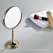 Espejo de aumento de la tabla de la belleza cosmética del color oro de la venta caliente
