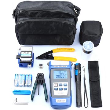 Kit d'outils optiques d'assemblage FTTH Kit d'outils de terminaison de fibre optique Kits d'outils de compteur de puissance optique de fibre d'épissage FTTH