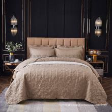 Hotel Decoration Camel Cotton Bedspread Queen Lightweight for Spring and Summer