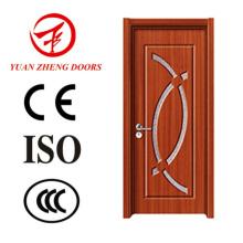 Porta de madeira Porta de madeira de vidro de PVC