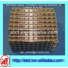 D8.2x8 Nickel-Beschichtung Disk Magnet für box