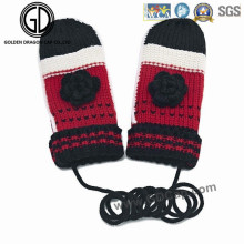 Christmas Gift Ladies Cute Super Soft Simple Warm Knit Gloves