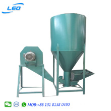 combined animal feed crusher and mixer 1ton/hour