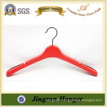 Red boutique plastic colorations coat hanger