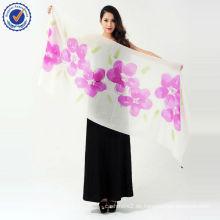 swc106 neue Schal Schal reine mongolische 100% Kaschmir Schal handgemalte schöne Schal