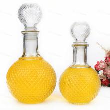 750ml Garrafa de vinho de vidro 1000ml Garrafa de vidro de cristal para bebidas espirituosas, uísque, licor