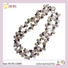 2013 de moda collar de cristal de la joyería, collar de perlas,