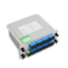 FTTH plug-in tipo pon splitters ópticos ao ar livre, 1x8 divisor óptico 1 * 8 lgx caixa