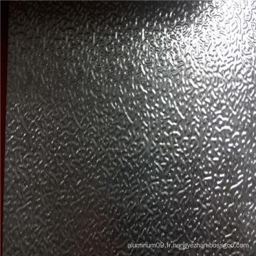 Plaque en aluminium gaufré avec motif de peau d'orange
