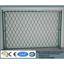 2015 solide Anti-Diebstahl-Hof Schutzgitter PVC beschichtet Ziehharmonika geschweißte Barriere Zaun Stacheldraht Schweißsicherheitszaun Panels