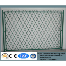 2015 solid anti theft yard guard grills PVC coated concertina welded barrier fence razor wire welding security fencing panels