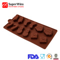 Cake Decoration Christmas Silicone Moldes para dulces de chocolate