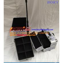 Алюминиевый кейс для макияжа на роликах с подкладкой из EVA