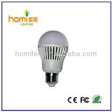7W led lâmpada de plástico, conduziu o bulbo plástico