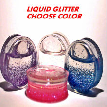 Liquid glitter filled ear gauges ear plug flesh tunnels